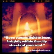 SnapshotBlog 011: The power of Hope can do this….